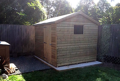 8' X 6' 5/8 (16mm) Pressure Treated Apex Shed