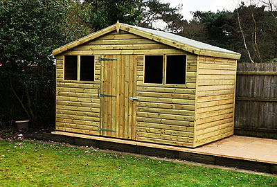 8' X 8' Pent Shed