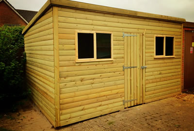 12' x 9' Pent Shed