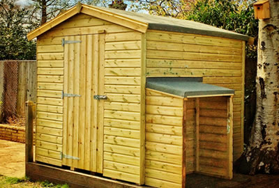 8' x 5' Apex Shed with Log Store