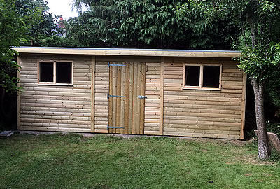 13' x 8' (3.9m x 2.4m) Pent Shed