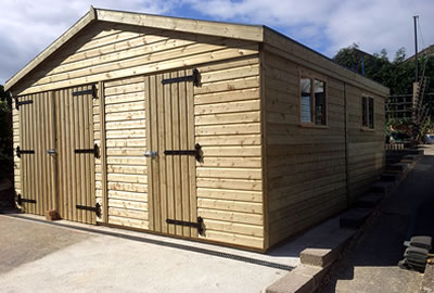 24' x 15' (7.2m x 4.5m) Apex Timber Workshop