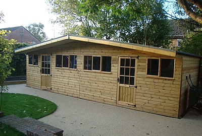 28' x 12' (8.4m x 3.6m) Apex Summerhouse
