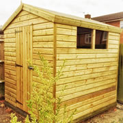 16mm Pressure Treated Shiplap Sheds