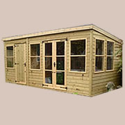 16mm Pressure Treated Shiplap Summer Houses