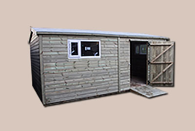 13' X 9' (3.9m x 2.7m) Loglap Apex Workshop