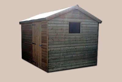 12' X 8' (3.6m x 2.4m) Shiplap Apex Workshop