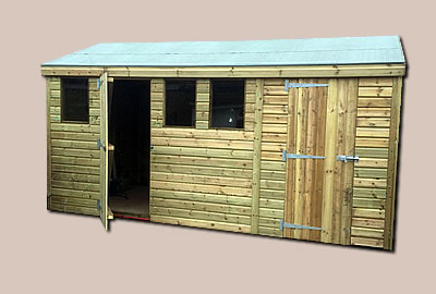 13' X 8' (3.9m x 2.4m) Shiplap Apex Workshop