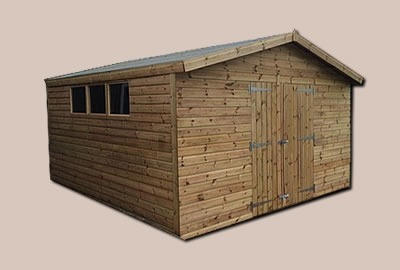 24' X 12' (7.2m x 3.6m) Shiplap Apex Workshop