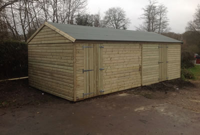 26' X 12' (7.8m x 3.6m) Shiplap Apex Workshop