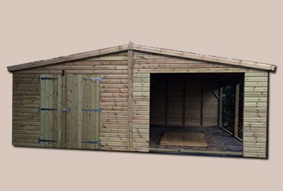 30' X 20' (9.0m x 6.0m) Shiplap Apex Workshop