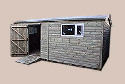 16' X 8' (4.8m x 2.4m) Shiplap Apex Workshop