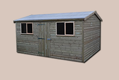 10' X 8' (3.0m x 2.4m) Shiplap Apex Workshop