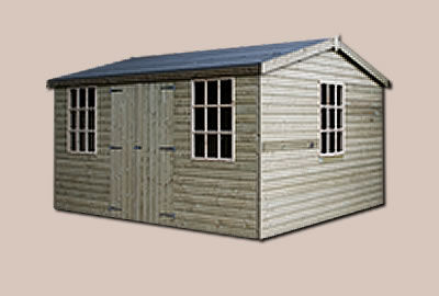 12' X 10' (3.6m x 3.0m) Shiplap Apex Workshop